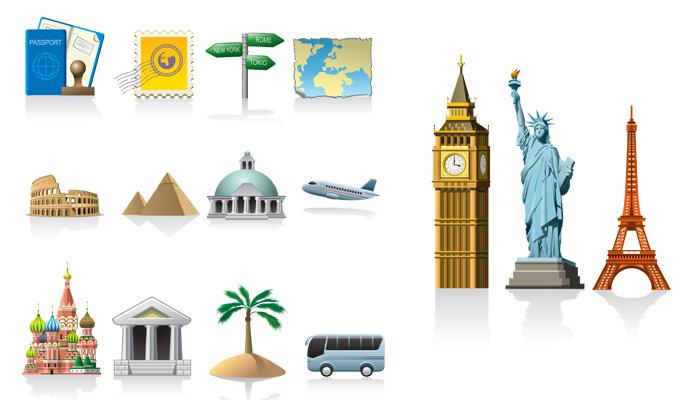 travel vector icons free